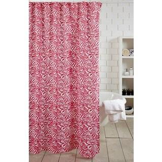 Pink Zebra Shower Curtain