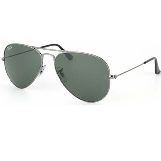 Ray-Ban Unisex RB3044 Gunmetal Small Aviator Sunglasses