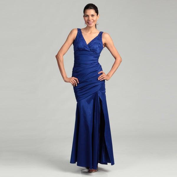 Hailey Women's Stretch Taffeta Beaded Dress