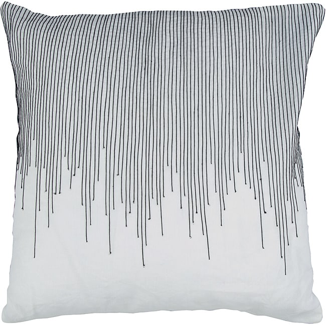 Decorative Square Briar Large Black/White Pillow