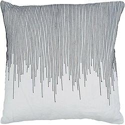 Decorative Square Briar Large Black/White Pillow