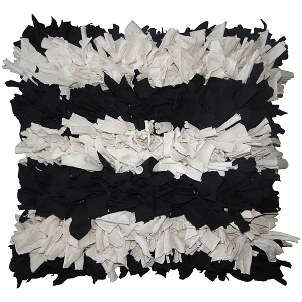 Jovi Home Gigi Black and White 18-inch Square Pillow