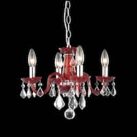 Somette Crystal Lattice Rose 4-light Chandelier