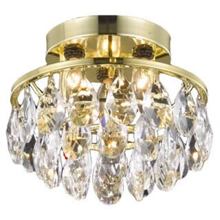 Somette Gold 3-Light Chandelier