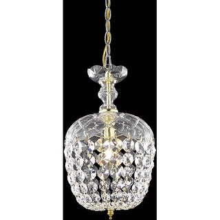 Somette Gold 1-Light Chandelier