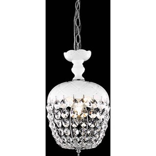 Somette White 1-Light Chandelier