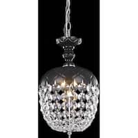 Somette Black 1-Light Chandelier