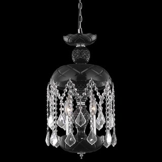 Somette Black 3-Light Crystal Chandelier