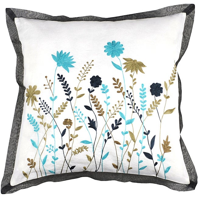 Quince 22x22 Multicolored Down Pillow