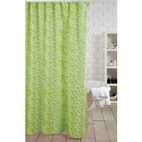 Green Zebra Shower Curtain