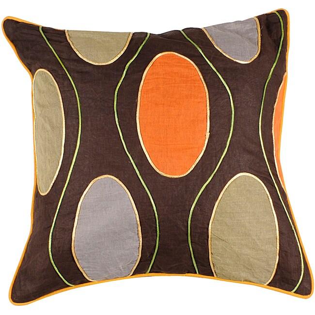 Decorative Brighton 18x18 Multicolored Pillow