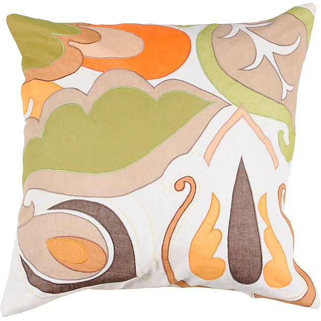 Decorative Noy Medium Multicolored Square Down Pillow
