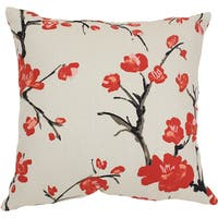 The Gray Barn Windy Oaks Decorative Cherry Blossom Throw Pillow