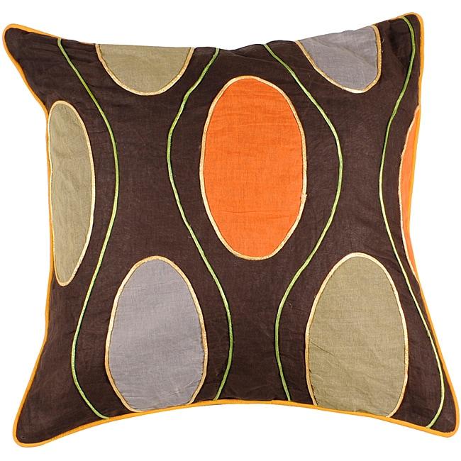 Brighton Multicolored Circles 18x18 Down Pillow