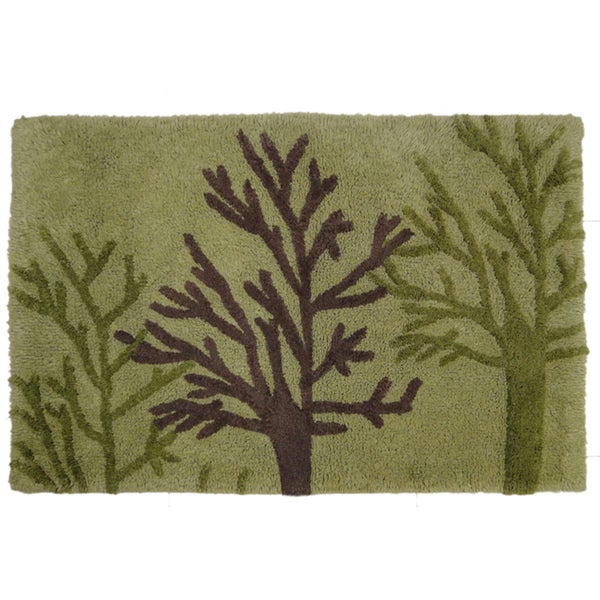 Jovi Home 'Woodland' Green Cotton 24 x 36 Bath Rug
