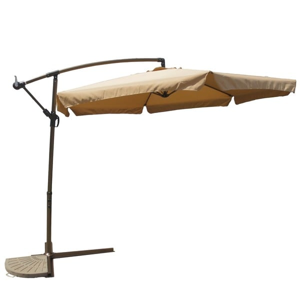 International Caravan St. Kitts 9 ft. Cantilever Crank Umbrella