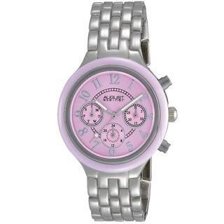 August Steiner Women's Swiss Quartz Multifunction Bezel Pink Watch|https://ak1.ostkcdn.com/images/products/6428557/P14033127.jpg?impolicy=medium
