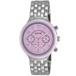 August Steiner Women's Swiss Quartz Multifunction Bezel Pink Watch