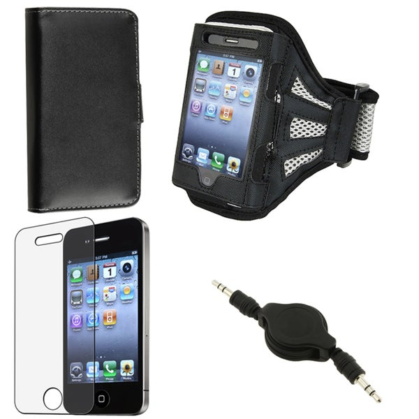 Leather Case/ Screen Protector/ Cable/ Armband for Apple iPhone 4S