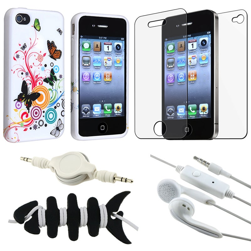 Case/ Screen Protector/ Headset/ Wrap/ Audio Cable for Apple iPhone 4S