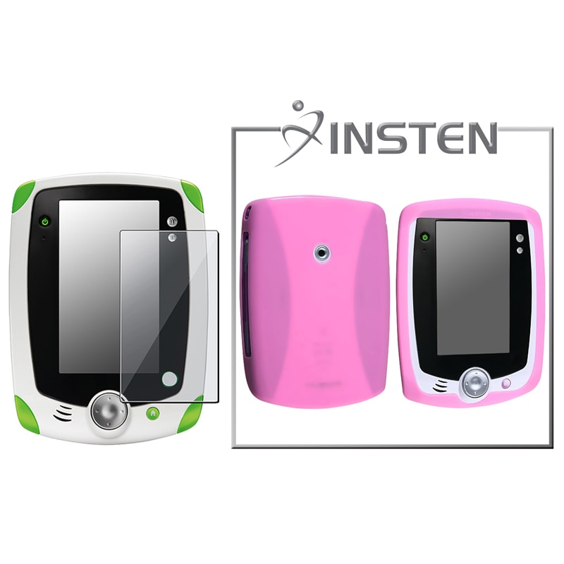 INSTEN Pink Phone Case Cover/ Screen Protector for LeapFrog LeapPad - Thumbnail 0