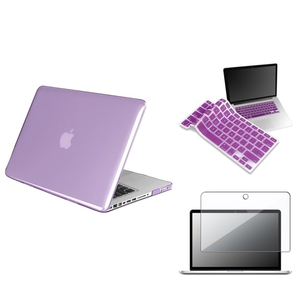 INSTEN Purple Keyboard Shield/ LCD Protector/ Laptop Case Cover for Apple MacBook Pro