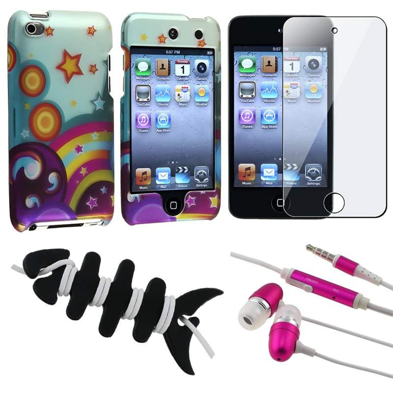 INSTEN Case Cover/ LCD Protector/ Headset/ Wrap for Apple iPod Touch 4th Gen