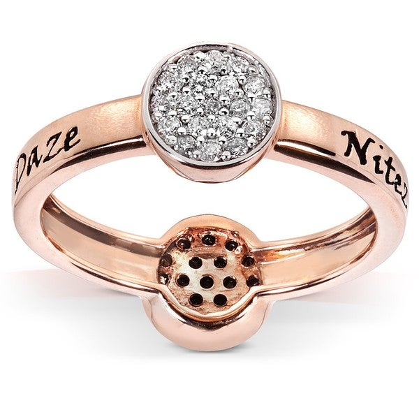 Annello by Kobelli Nitez N Daze 14k Rose Gold 1/3ct TDW Diamond Ring (H-I, I1-I2)