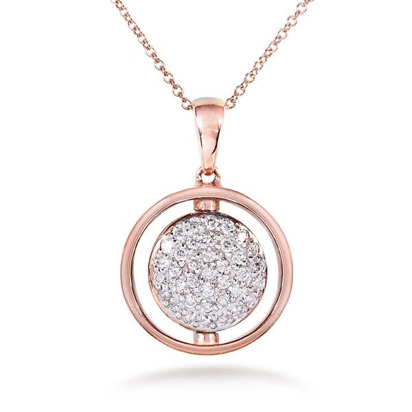 Annello by Kobelli Nitez N Daze 14k Rose Gold 5/8ct TDW Black and White Diamond Necklace