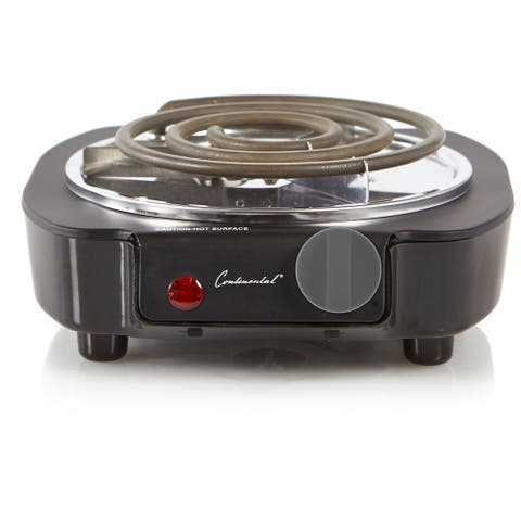 Continental Electric Portable Single Burner Coil Element Black