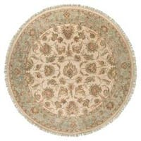 Hand-knotted Newell New Zealand Hard Twist Wool Area Rug (8' Round)