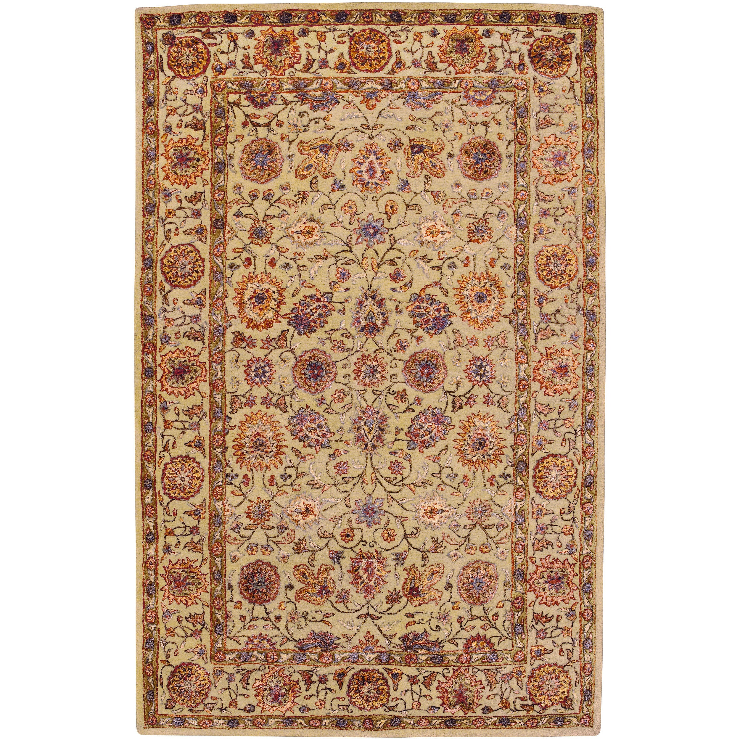 Hand-tufted Brookings Semi-worsted New Zealand Wool Rug (5' x 8')