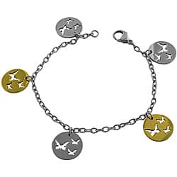 Fremada Two-tone Stainless Steel Cut-out Butterfly Charm Bracelet|https://ak1.ostkcdn.com/images/products/6430124/Fremada-Two-tone-Stainless-Steel-Cut-out-Butterfly-Charm-Bracelet-P14034362.jpg?impolicy=medium
