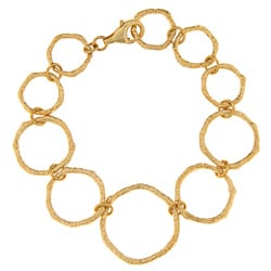 Gold over Sterling Silver Circle Bracelet