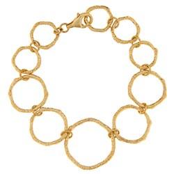 Gold over Sterling Silver Circle Bracelet
