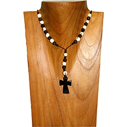 Tagua Rosary Necklace (Colombia)