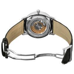 Frederique Constant Men's 'Slim Line' Black Dial Watch - Thumbnail 1