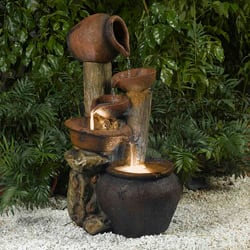Buy outdoor fountains online at overstock our best outdoor pentole pot illuminated water fountain mozeypictures Choice Image