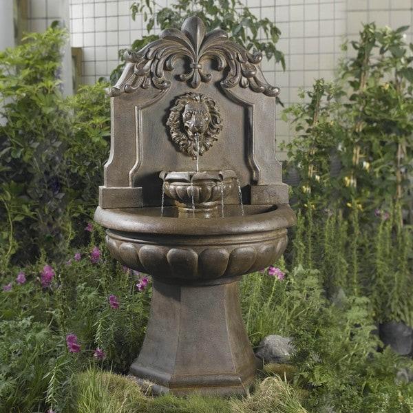 Jeco Big Copper Lion Head Water Fountain
