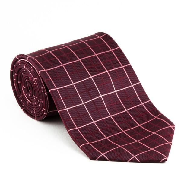 Platinum Ties Men's 'Red Plaid' Necktie