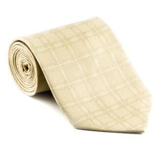 Platinum Ties Men's 'Tan Chandelier' Necktie