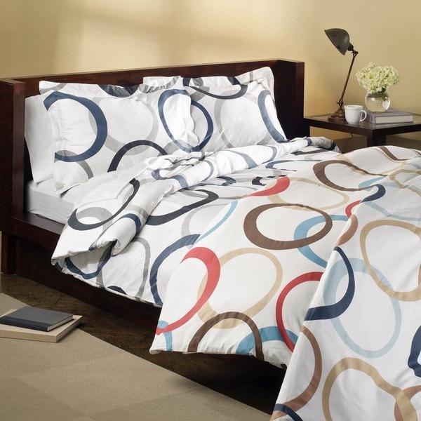 Infinity Cotton 3-piece Duvet Cover Set