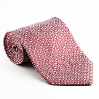Platinum Ties Men's 'Red Matrix' Necktie