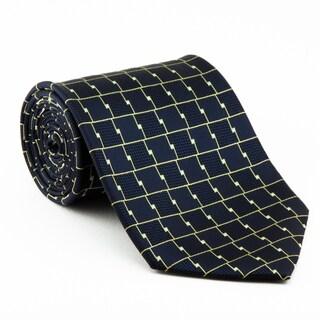 Platinum Ties Men's 'Blue Chrome' Necktie