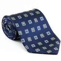 Platinum Ties Men's 'daVinci Blue' Necktie