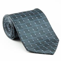 Platinum Ties Men's 'Silver Chrome' Necktie