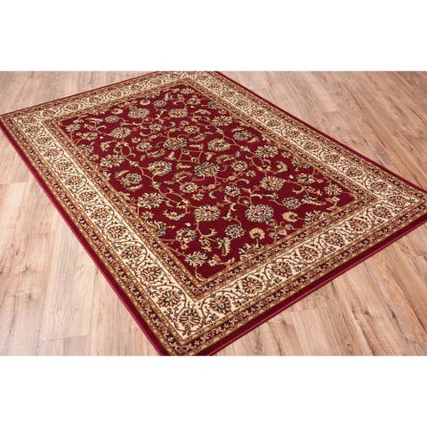 """Concord Global Jewel Timeless Red Area Rug - 7'10"""" x 9'10"""""""