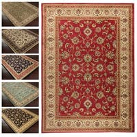 "Concord Global Jewel Timeless Red Area Rug - 5'3"" x 7'7"""