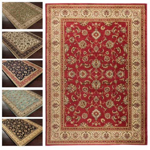"""Concord Global Jewel Timeless Red Area Rug - 5'3"""" x 7'7"""""""