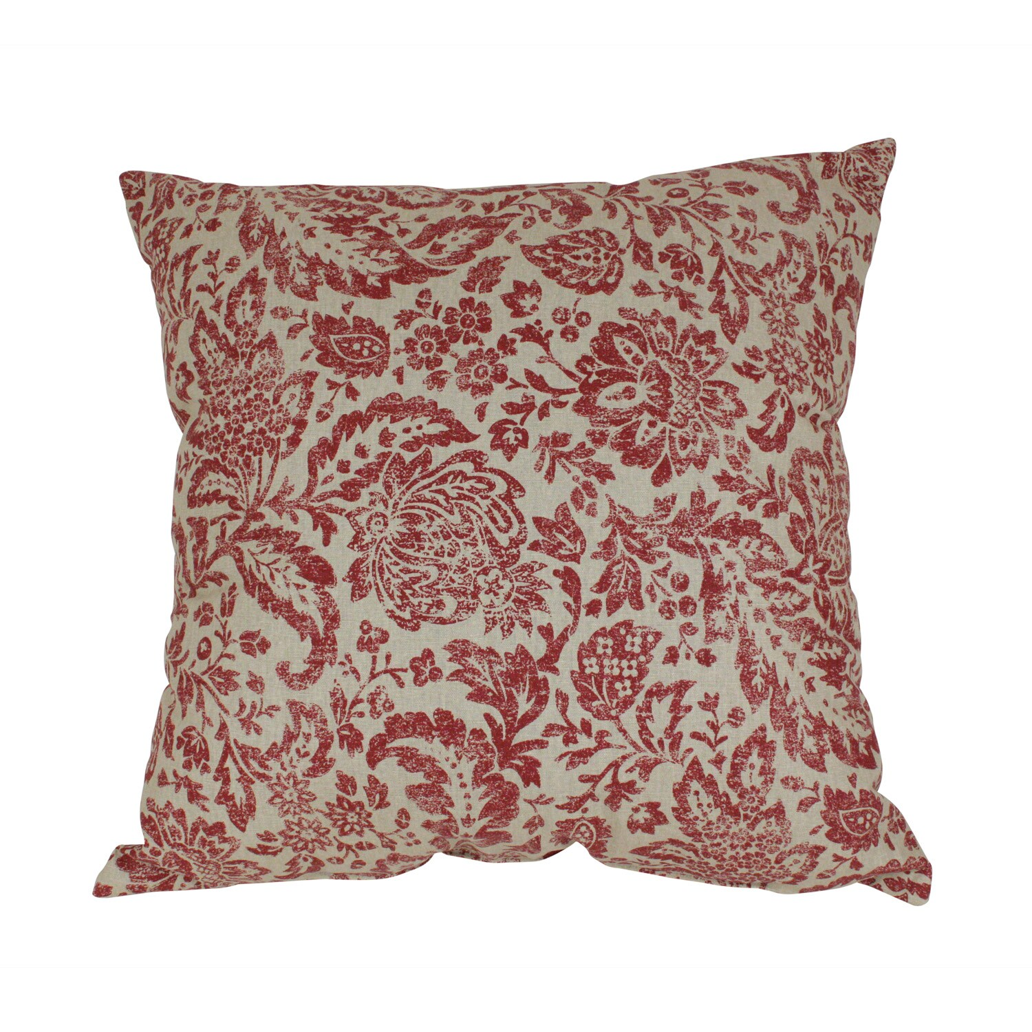 Red And Tan Decorative Pillows : Pillow Perfect Decorative Red and Tan Damask Pillow - Free Shipping Today - Overstock.com - 14034851